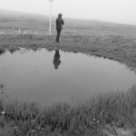 Braebuster bomb crater in the fog