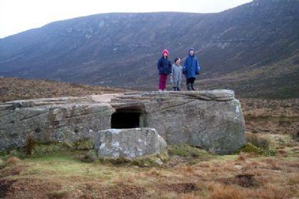 The Dwarfie Stane ~ Built By Ancient Dwarfs? Kids-at-dwarfie-stane