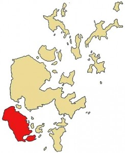 map of Orkney showing Hoy