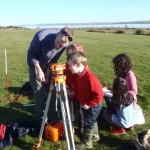 Archaeological Survey Training Sighting on a Feature © Orkney Islands Council 2014