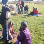 Archaeological Survey Training Taking Measurments © Orkney Islands Council 2014