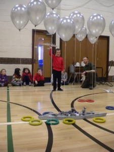 School-based active learning in practice learning how a barrage balloon worked as part of a WWII defence system © Orkney Islands Council 2014
