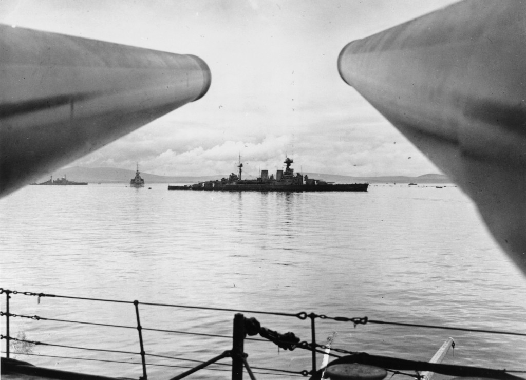HMS Hood in Scapa Flow © Orkney Library & Archive, ref. L3789-2