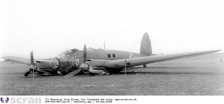 He111H-3 of KG26 force-landed at Wick after raid on Scapa Flow 8.4.1940 -SCRAN, ref. 06120011