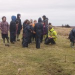 Identifying WWII Hut Foundations near the School © Orkney Islands Council 2014