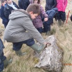 Identifying a Barrage Balloon Site near the School © Orkney Islands Council 2014