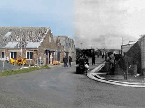 WWII Hoy Then & Now - Artillery Road, Lyness
