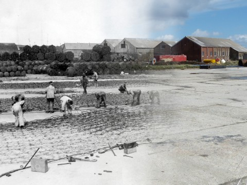 WWII Hoy Then & Now - Boom Slab, Lyness