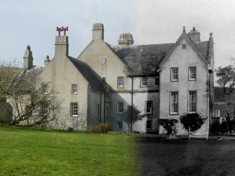 WWII Hoy Then & Now - Melsetter House