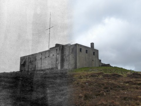 WWII Hoy Then & Now - RN Communications Centre, Wee Fea