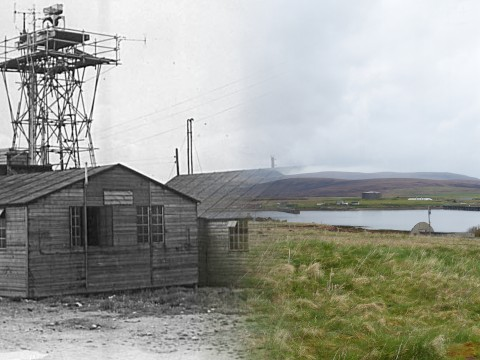 WWII Hoy Then & Now - RN Radar Repair Centre, Rinnigill