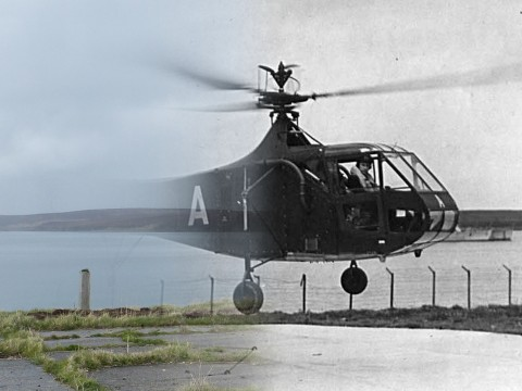WWII Hoy Then & Now - Rinnigill Helicopter Pad