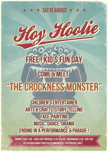 Hoy Hoolie kids fun day poster