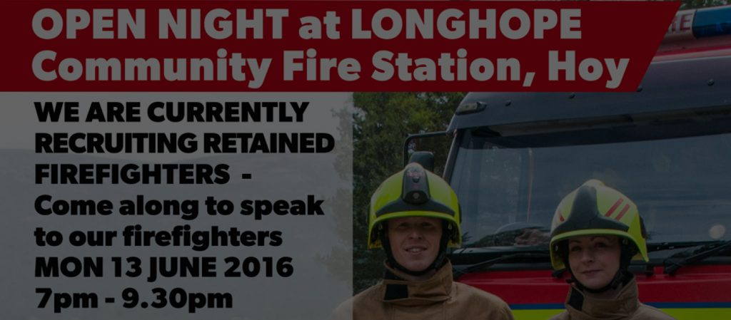 Longhope fire station open night Poster header