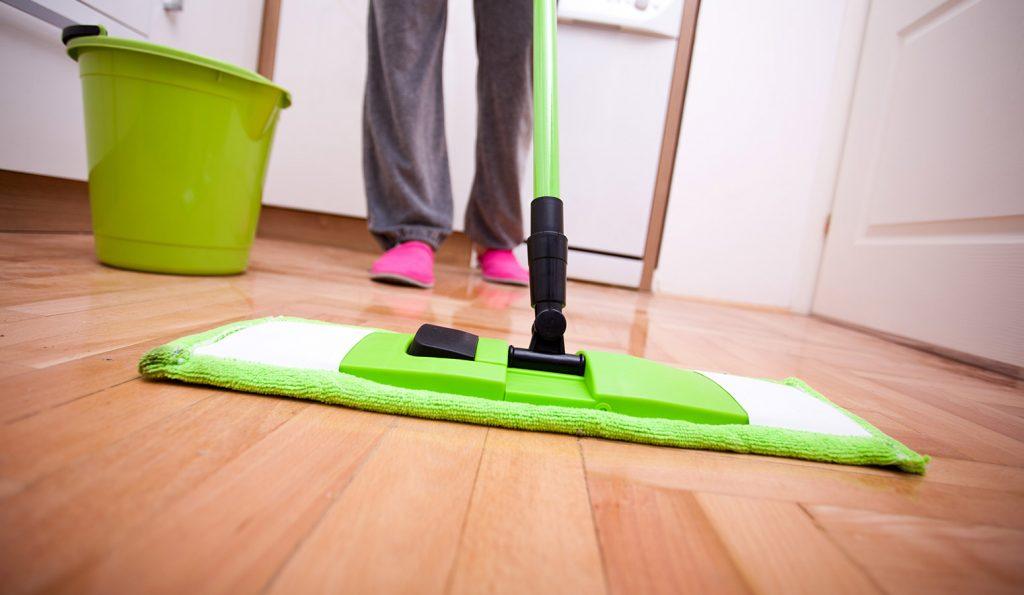 green mop & bucket